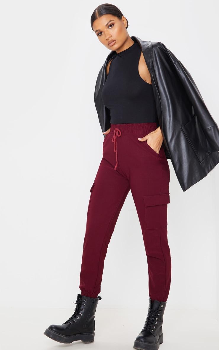 Wine Cargo Pocket Pants 5