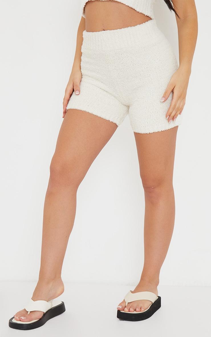 Short crème Premium  en maille tricot fluffy 2