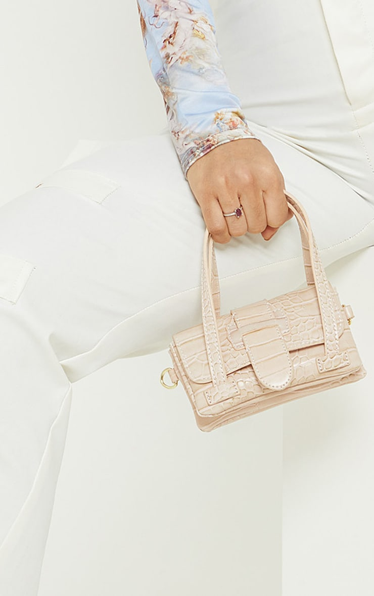 Cream Croc Extra Mini Bag 1