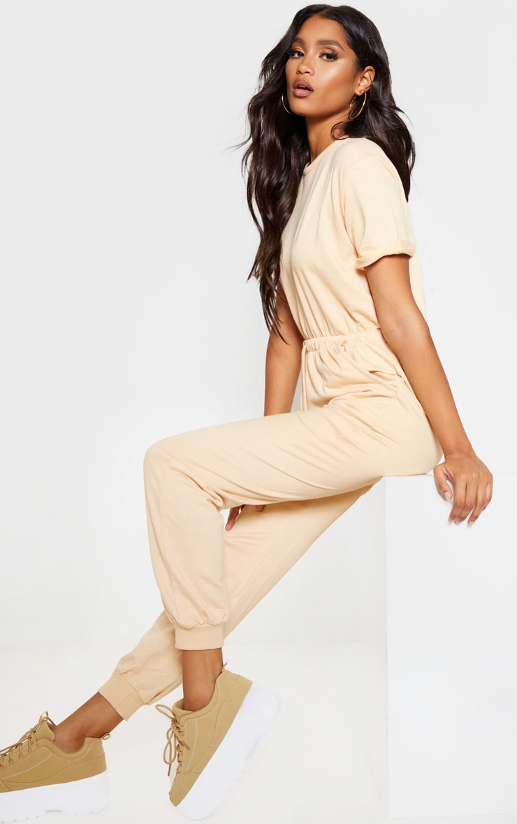 Fawn Short Sleeve Sweat Jumpsuit 1