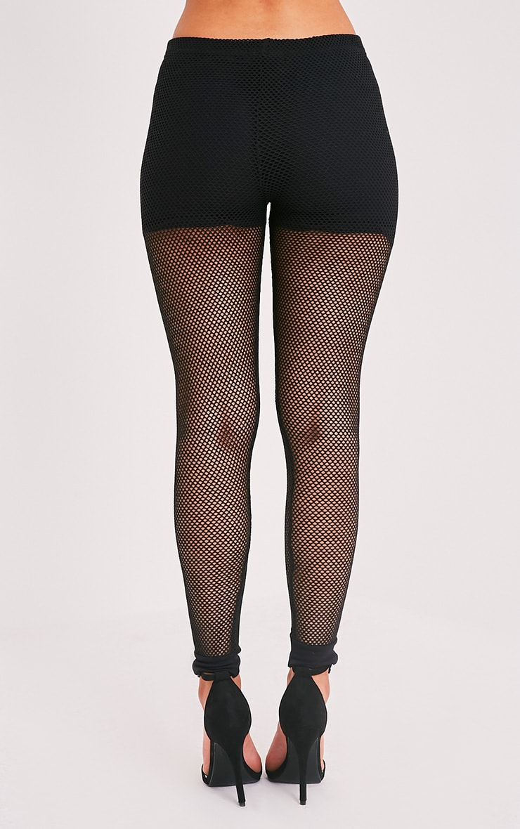 Andrea leggings en résille noirs 5