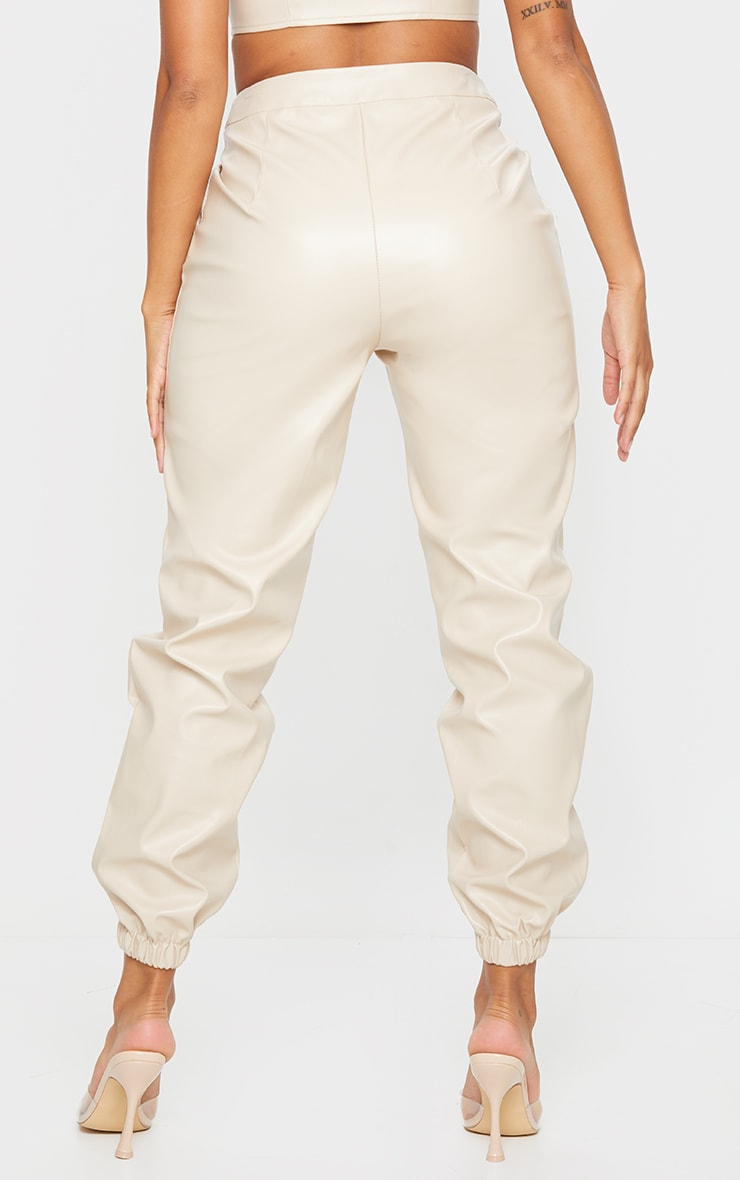 Shape Stone Faux Leather Jogger 3