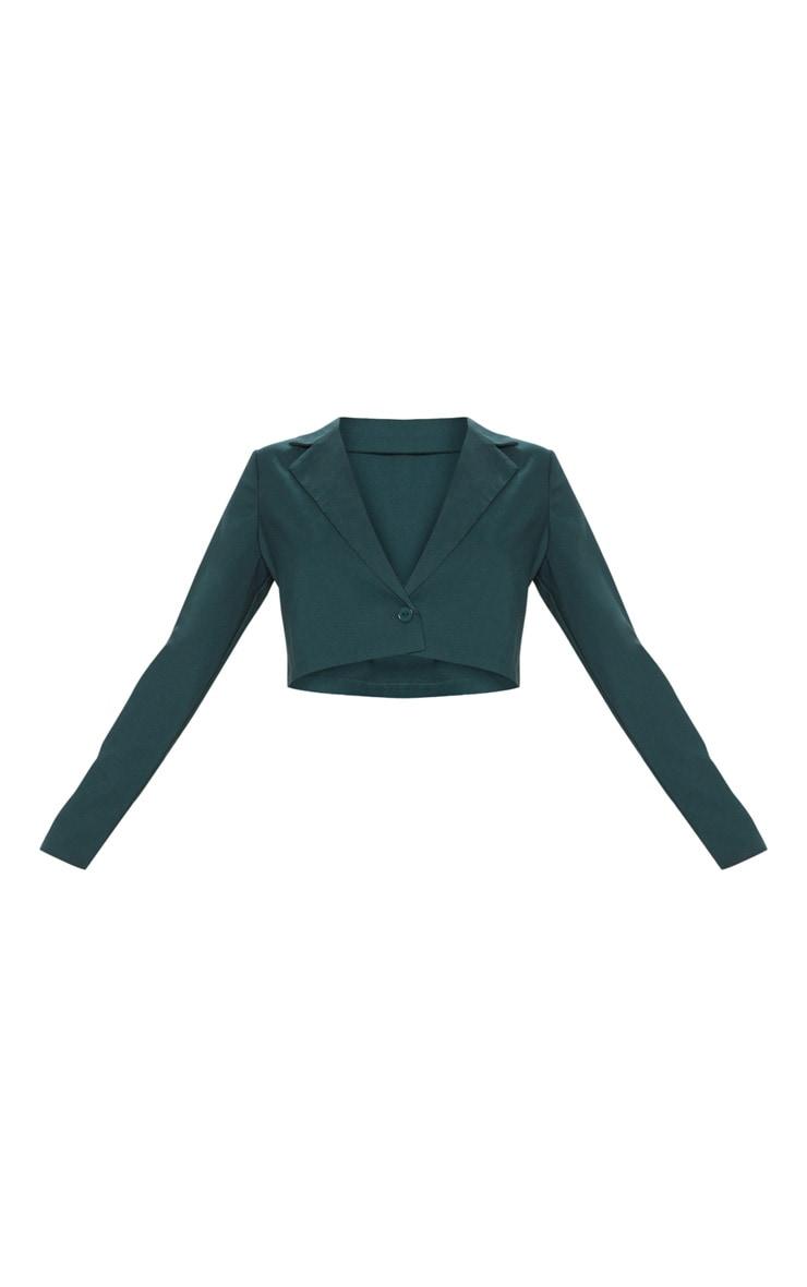 Emerald Green Cropped Blazer  3