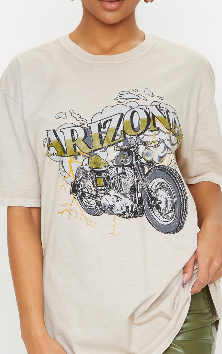 Sand Arizona Washed T Shirt 4