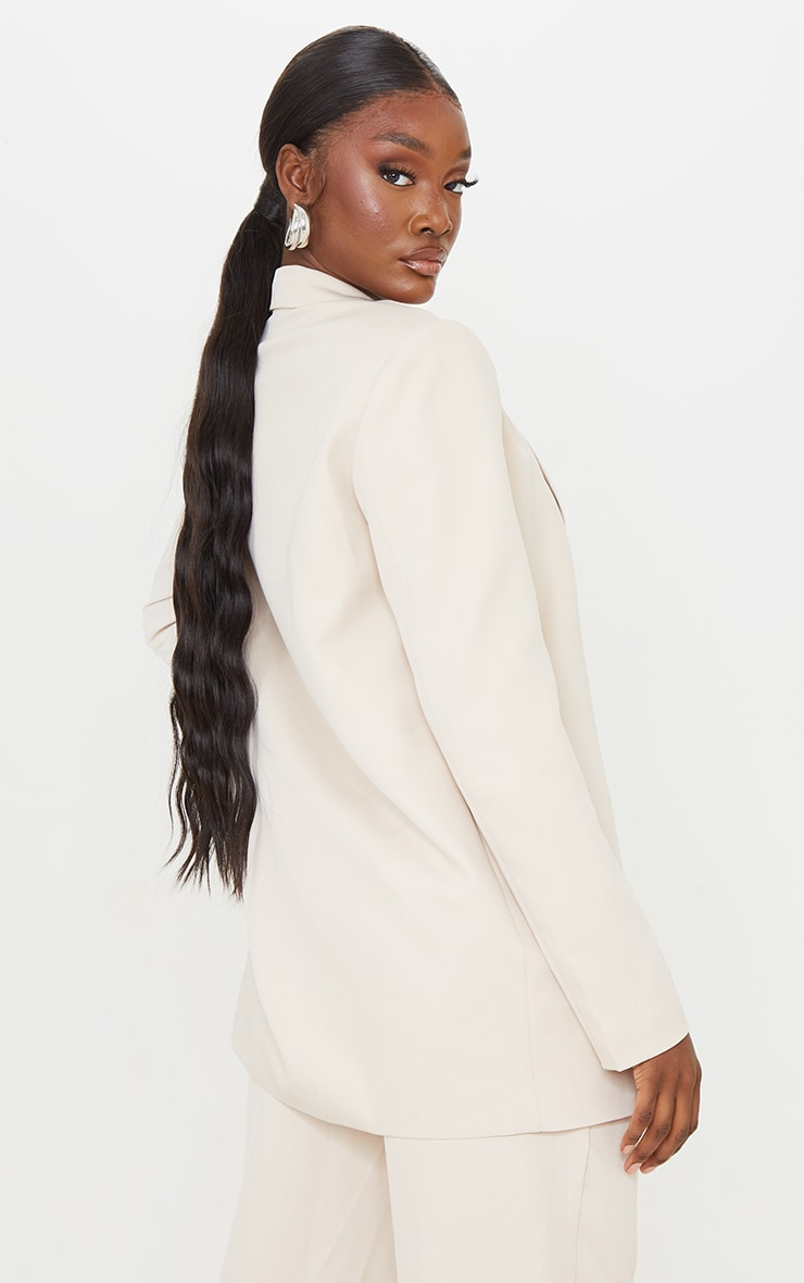 Tall Stone Shoulder Pad Oversized Double Breasted Blazer 2
