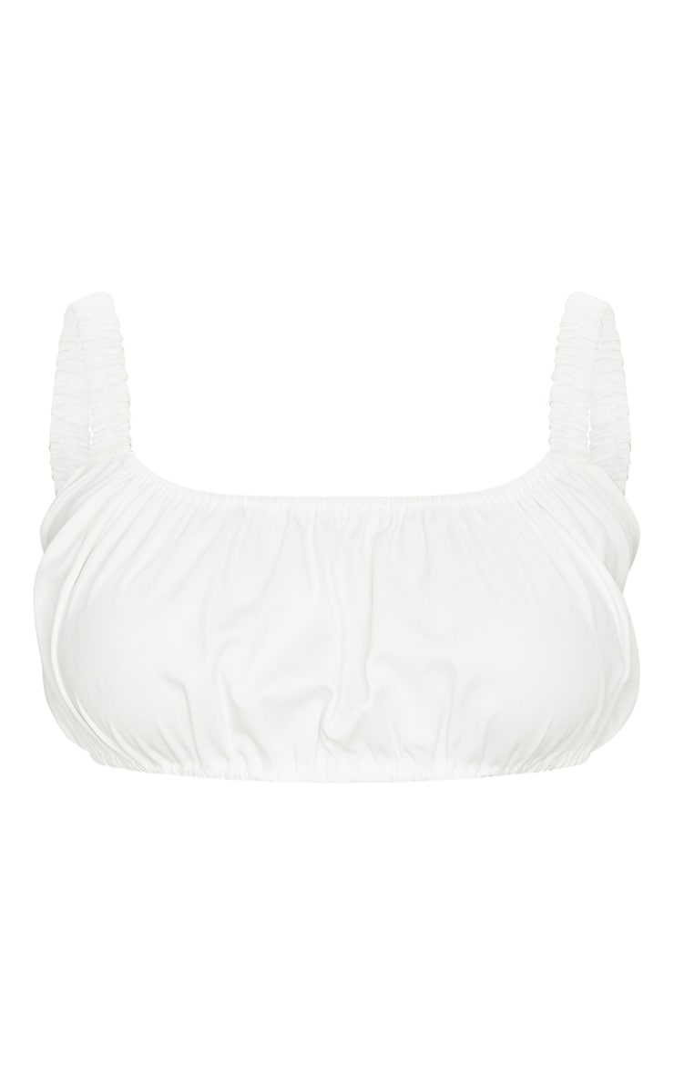 White Woven Ruched Bralet 5