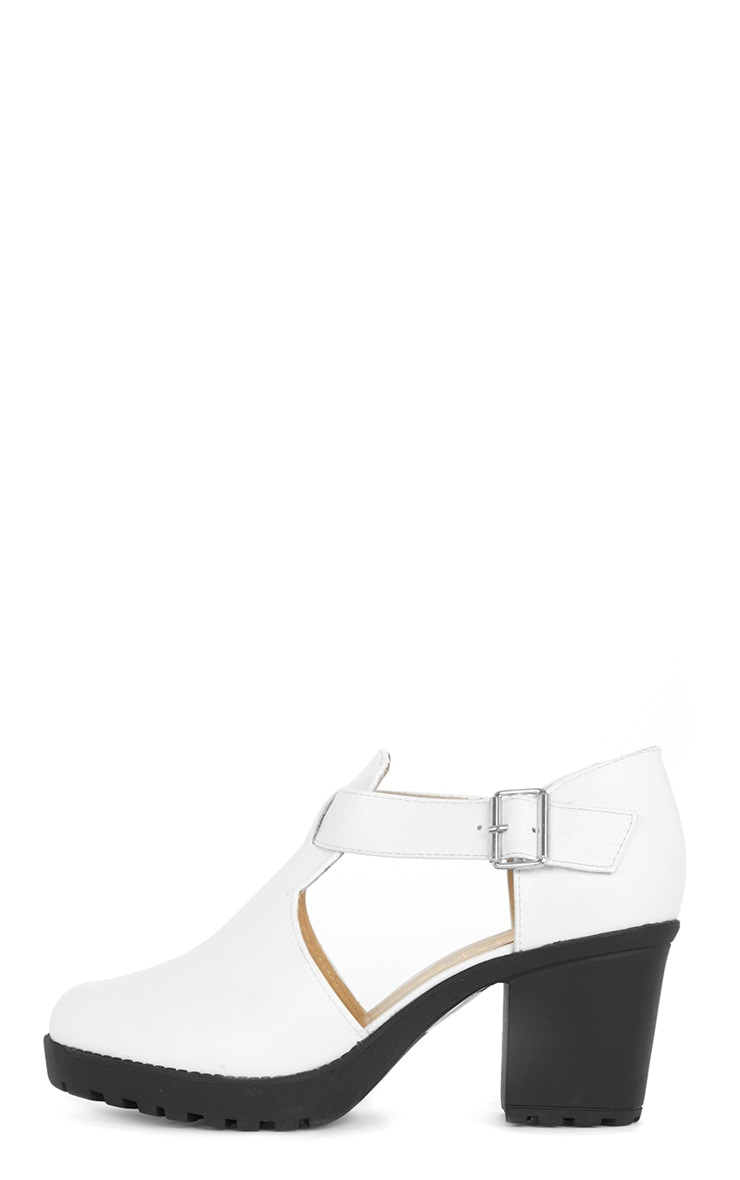 Lana White Heeled Strap Shoe  1