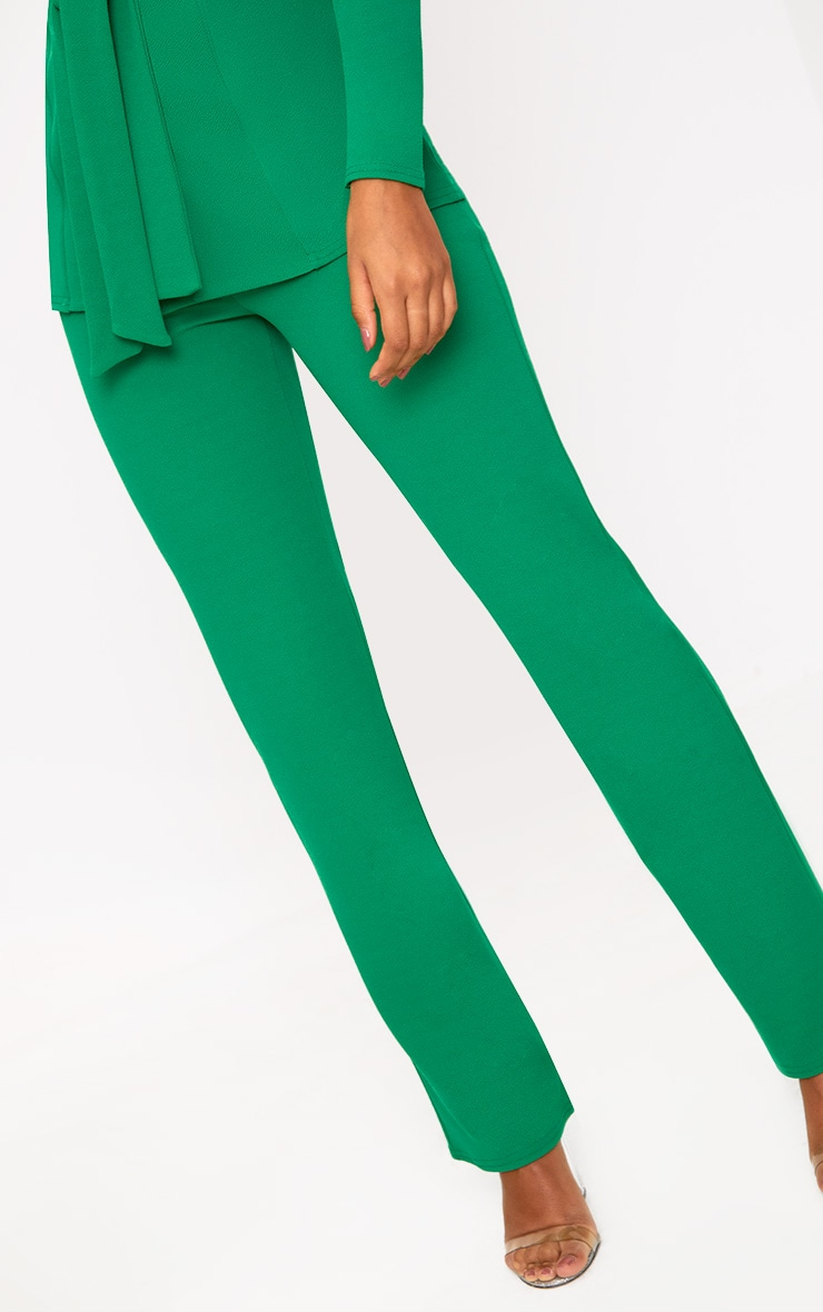 Green Straight Leg Suit Trousers 5