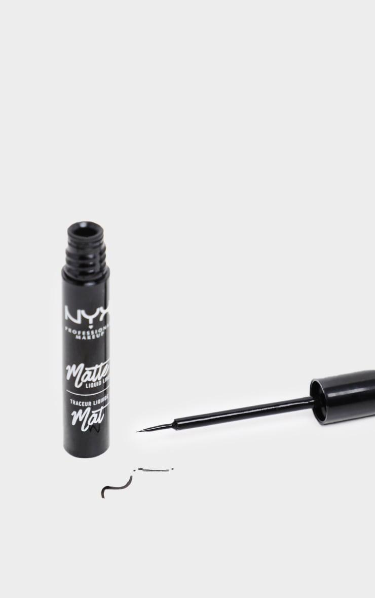 NYX PMU Black Matte Liquid Liner 2