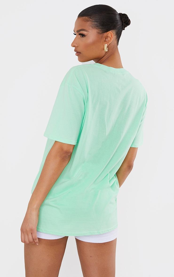 Green Calabasas Slogan Printed T Shirt 2