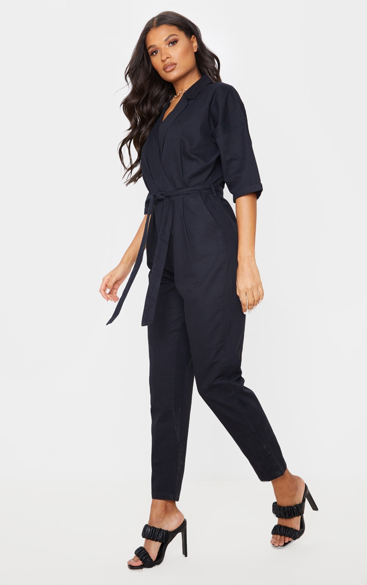 Black Denim Utility Jumpsuit 4