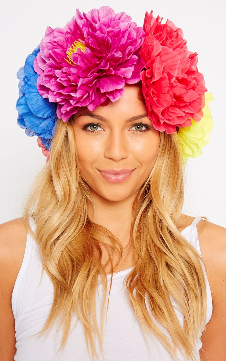 Sava Multi Colour Large Floral Hair Garland 1