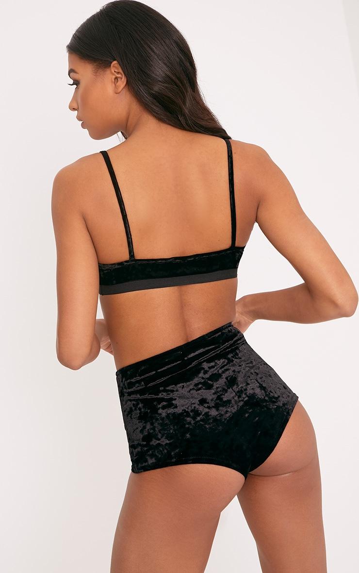 Sophia Black Velvet Soft Bra 2