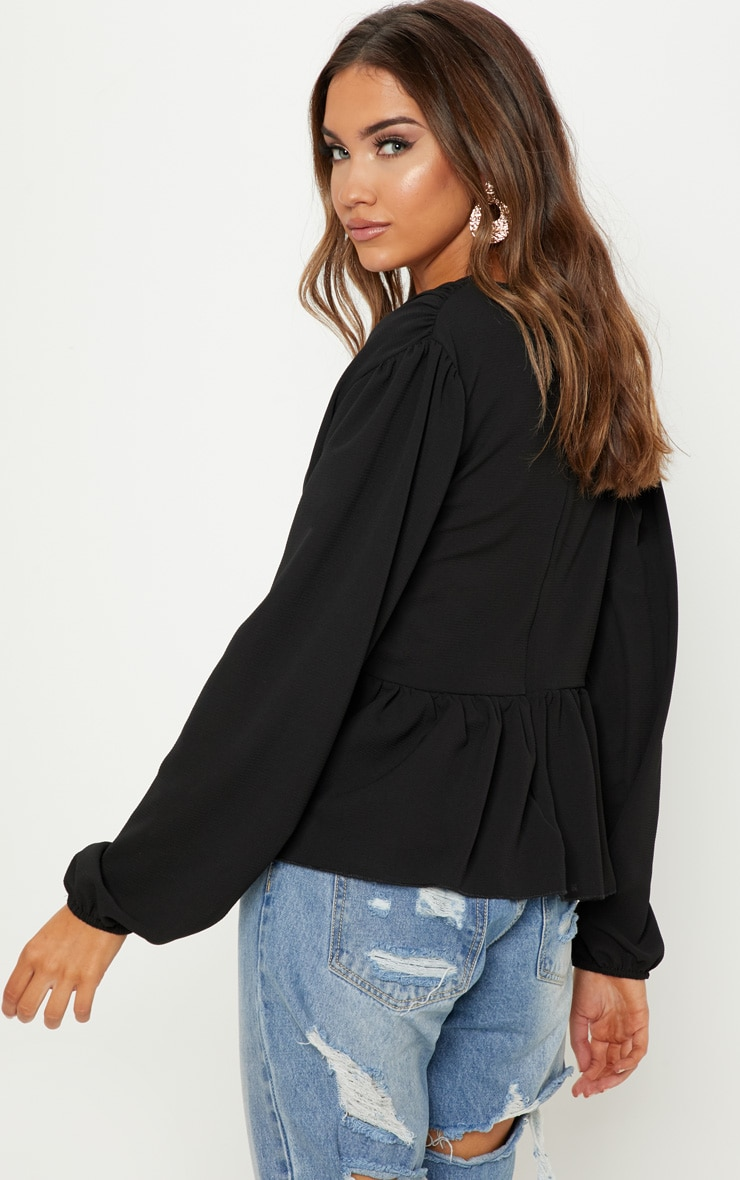 Black Button Down Blouse 2