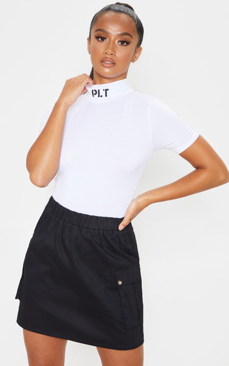 Petite Black Cargo Pocket Skirt 1