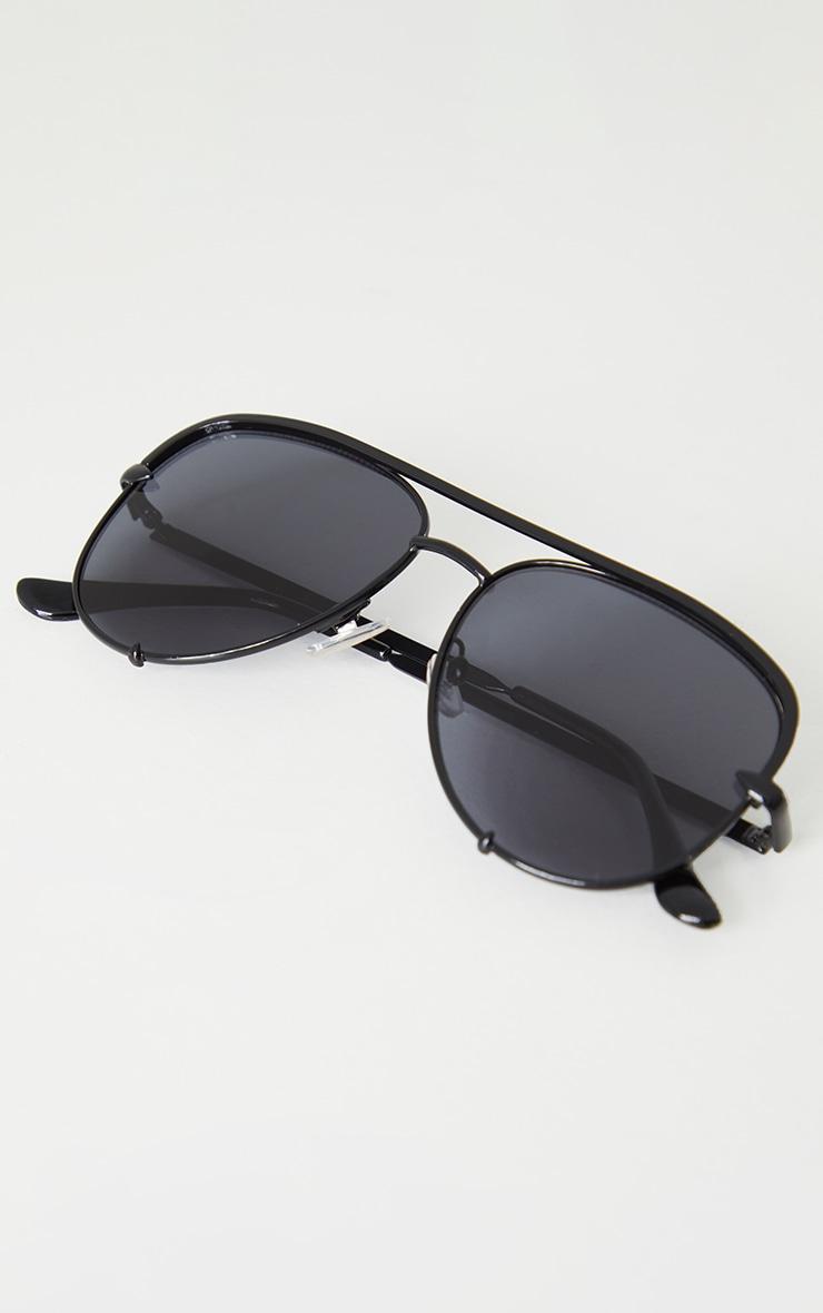 Black On Black Oversized Aviator Sunglasses 3