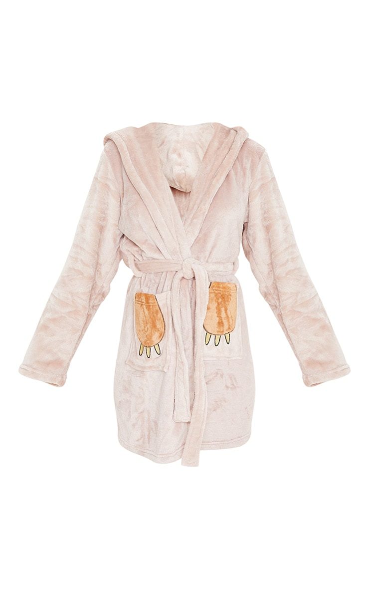 Beige Sloth Dressing Gown 3