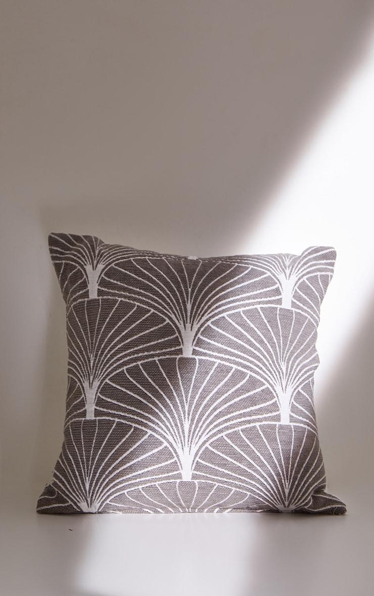 Grey Palermo Cushion Cover 4