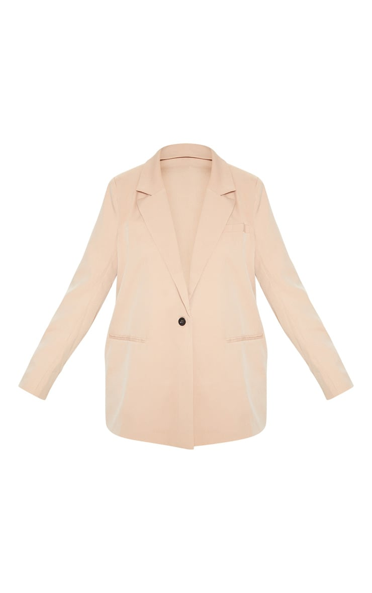 Camel Oversized Dad Blazer 3