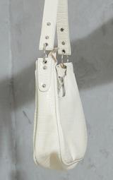 Cream Oversized Croc Rounded Shoulder Bag 3