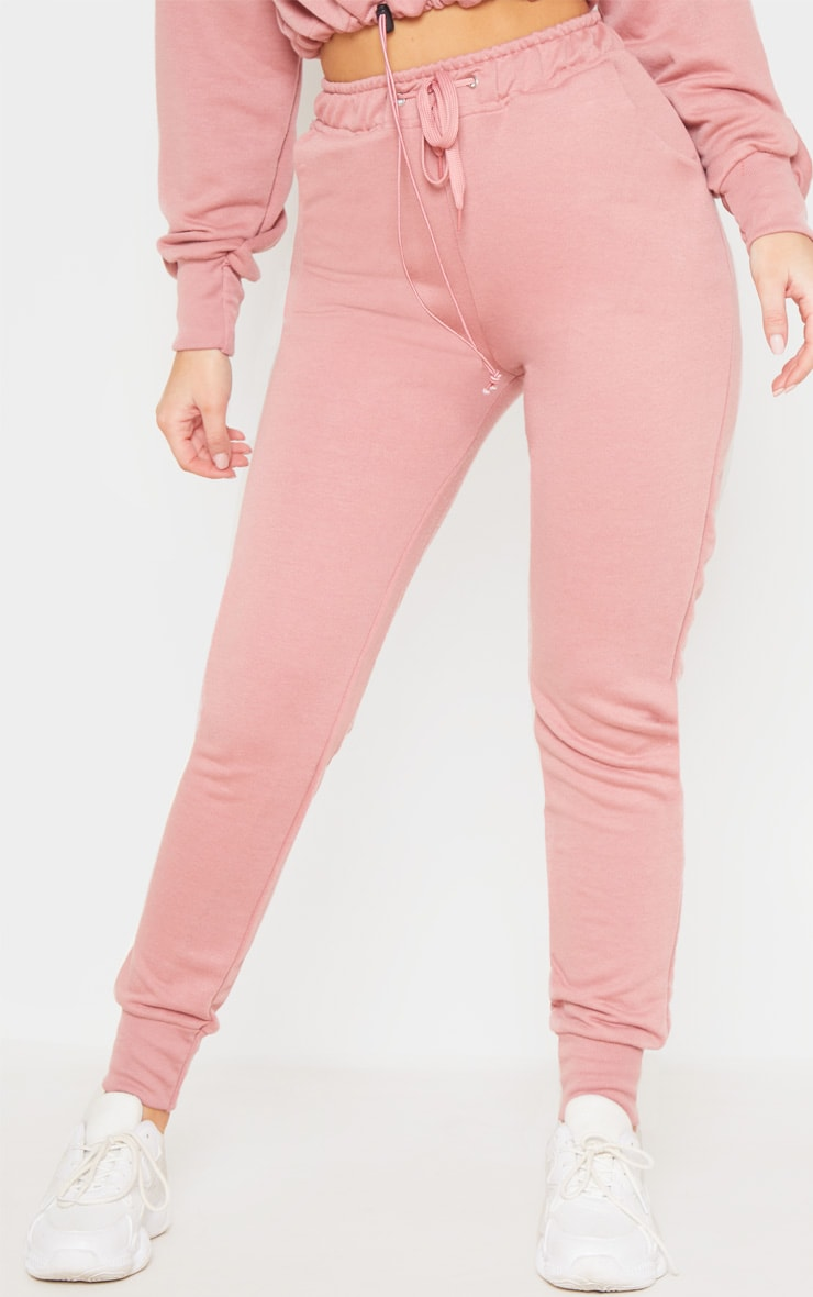 Dusty Pink Basic Gym Sweat Jogger 2