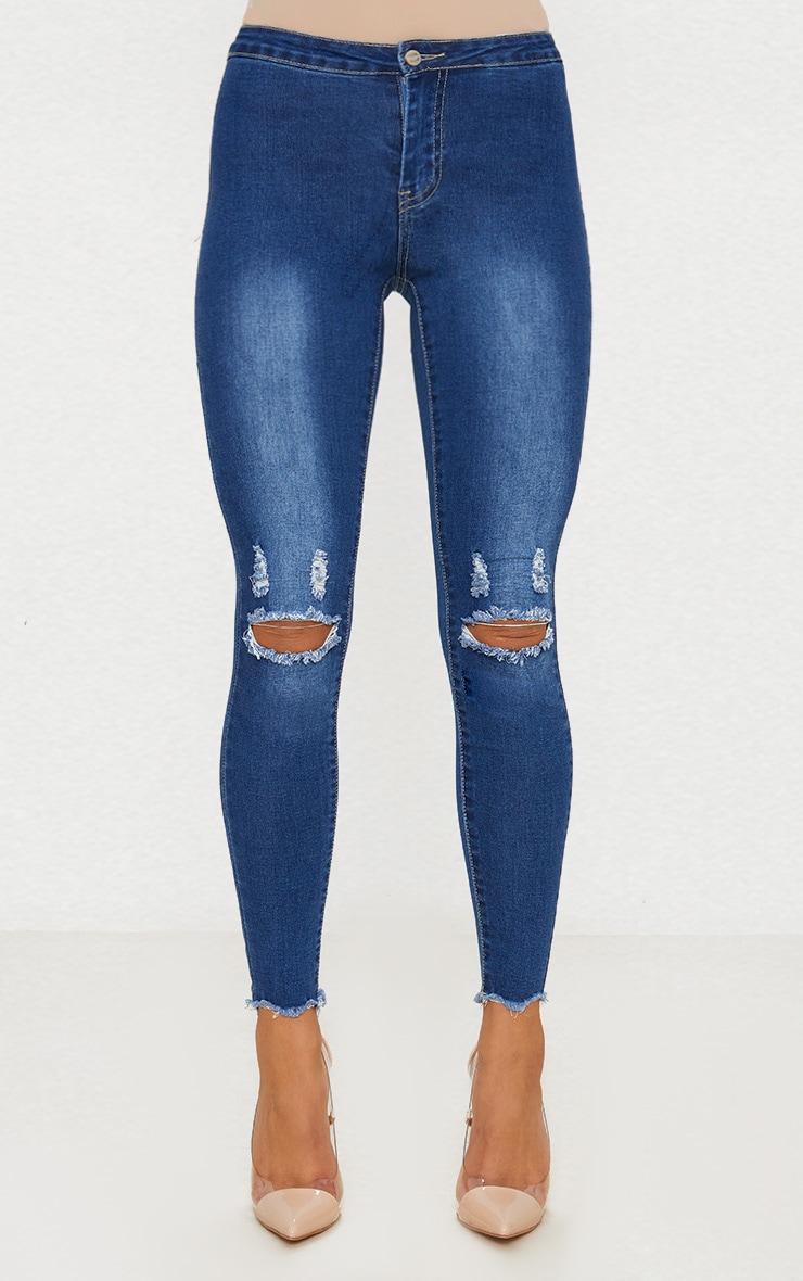 Mid Wash Skinny Jean  2