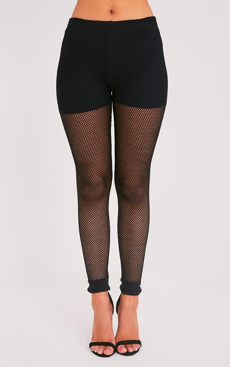 Andrea leggings en résille noirs 2