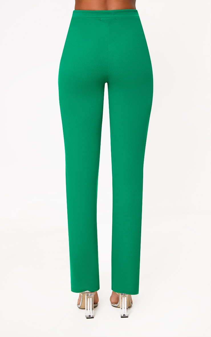 Green Straight Leg Suit Trousers 4
