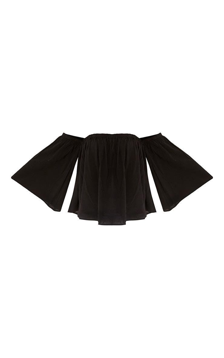 Eli Black Soft Bardot Top 3