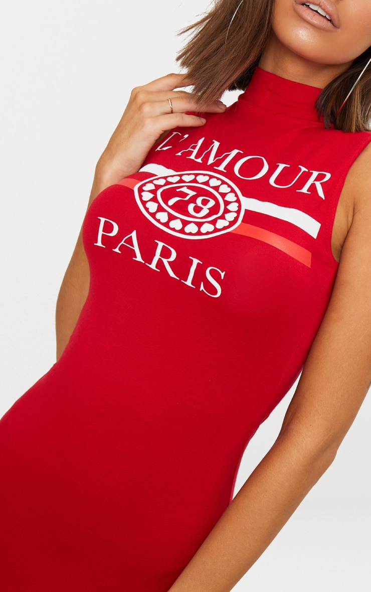 Lamour Red Sleeveless Bodycon Dress 5