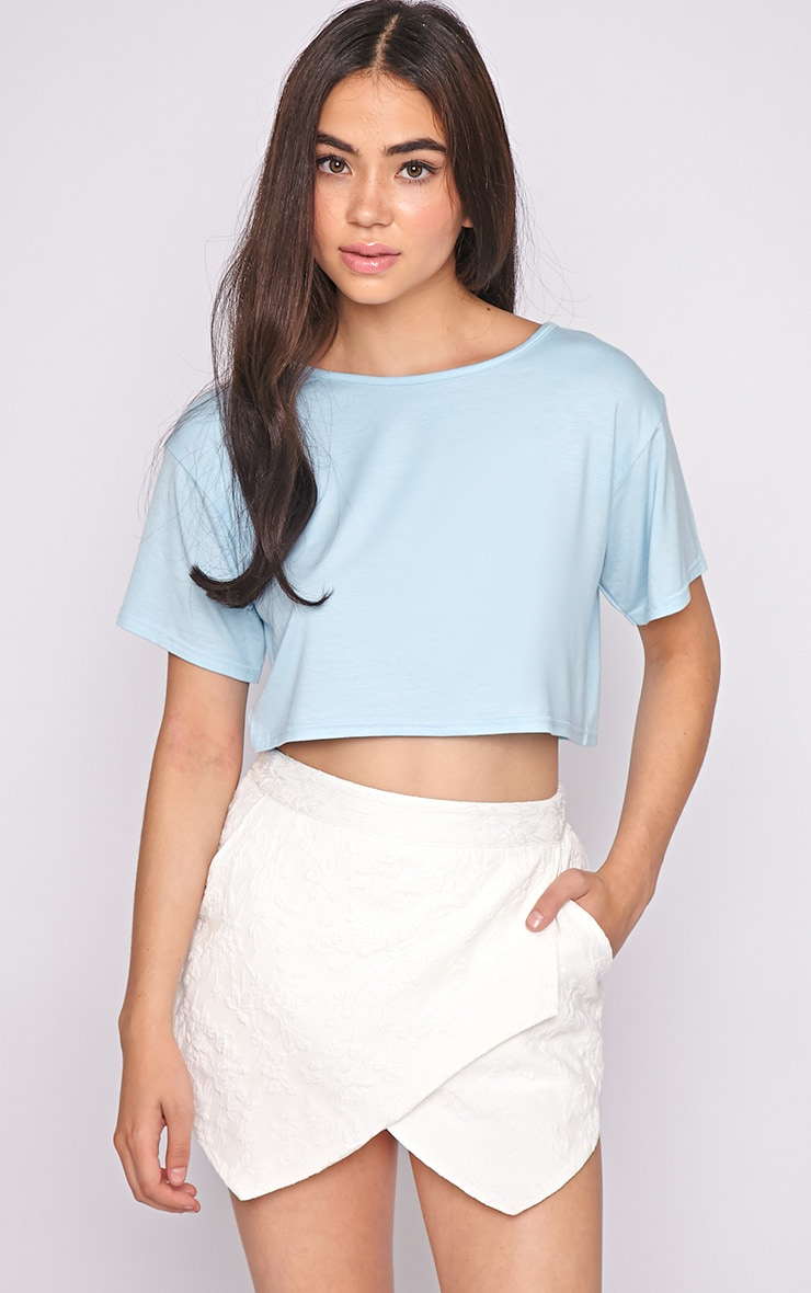 Lucille Blue Boyfriend Crop Top 4