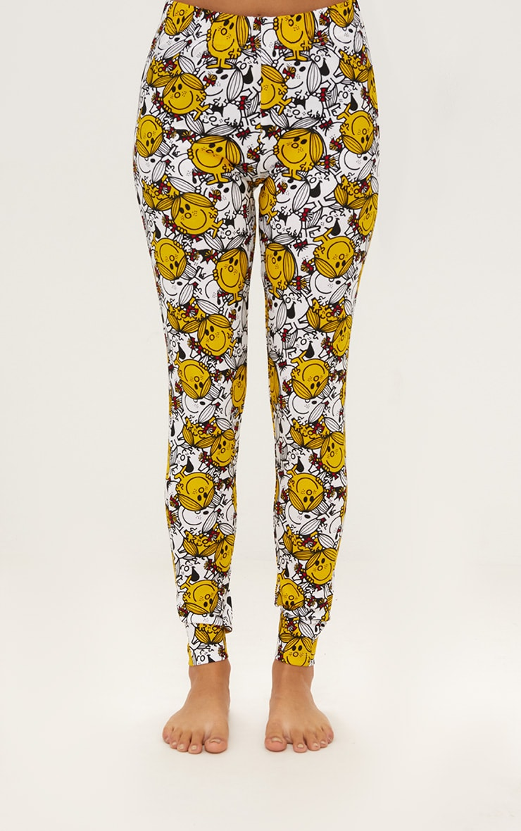 White Little Miss Sunshine Legging PJ Set 4