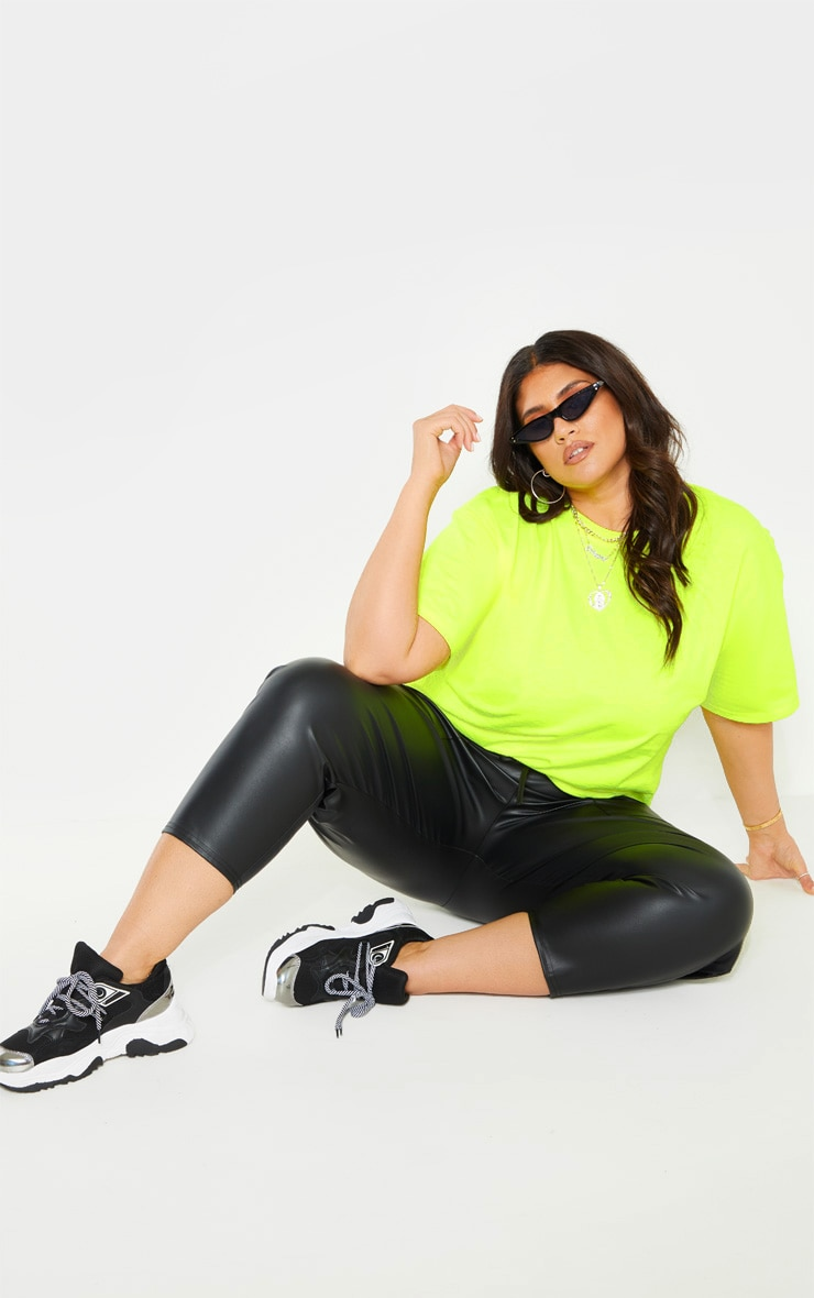 Plus Neon Lime Oversized T-shirt 4