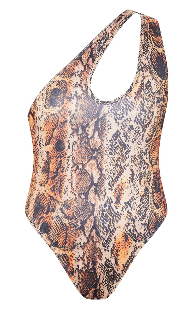 Multi Snake One Shoulder Cut Out Swimsuit 5