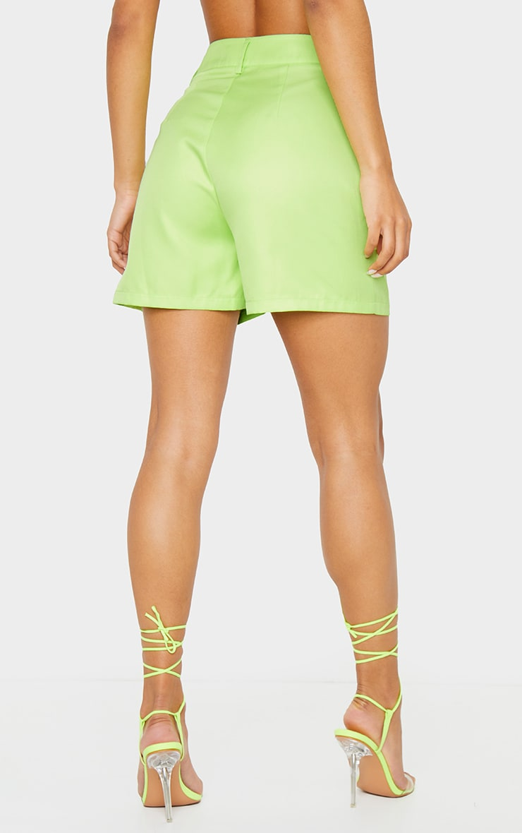 Lime Green Woven Tailored Short 2