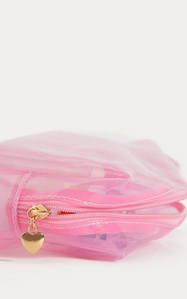 Pink Clear Large Wash Bag 3