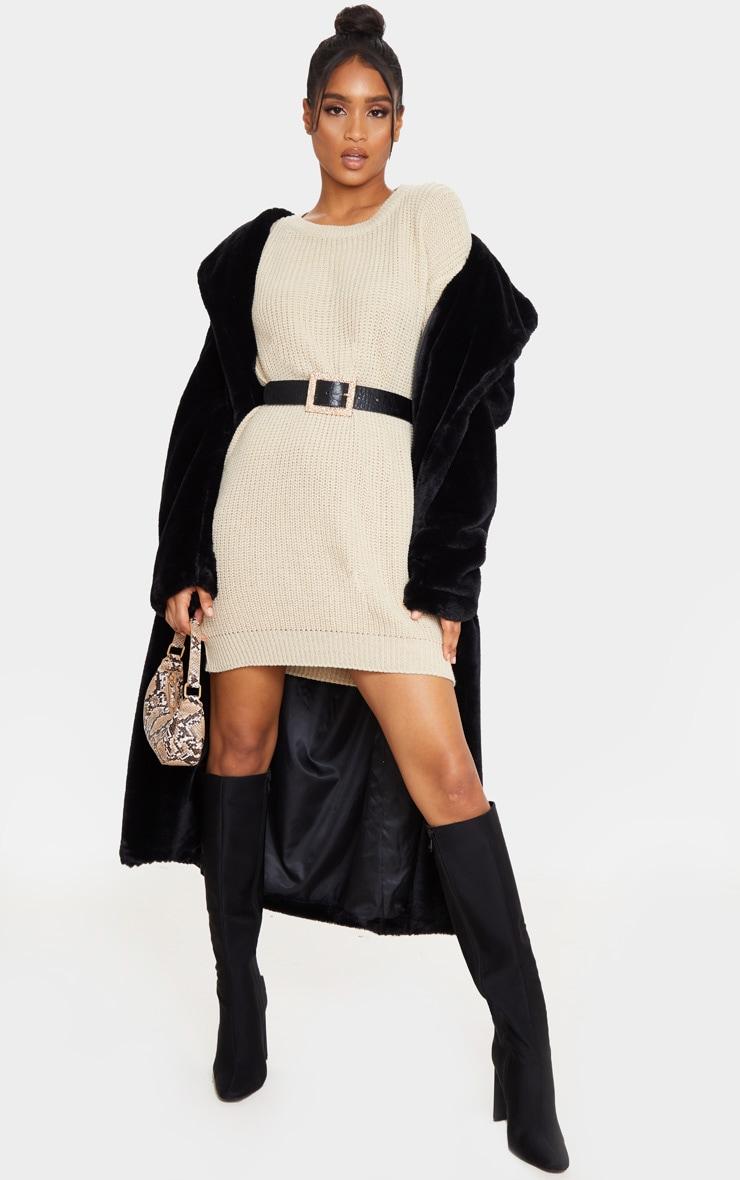 Stone Basic Knit Jumper Dress 4