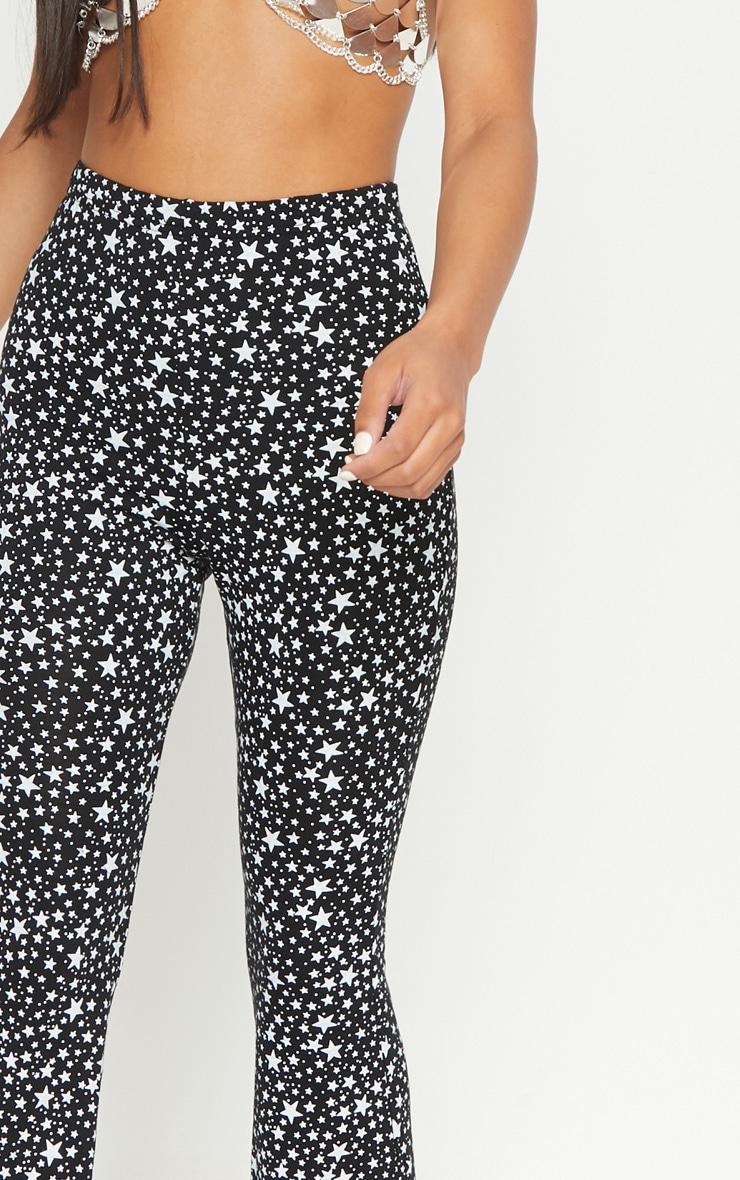 Black Jersey Star Print Flare Trouser 5