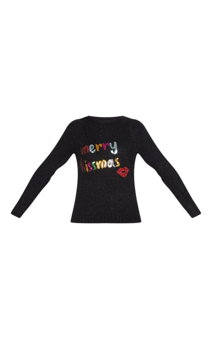 Black Merry Kissmas Jumper 3