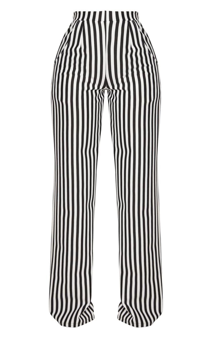 Shape Black Striped Wide Leg Trousers 3