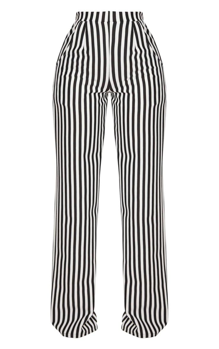 Shape- Pantalon ample rayé noir et blanc 3