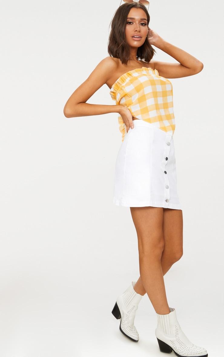 Lemon Checked Handkerchief Crop Top  4