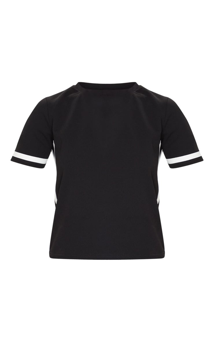 Black Stripe Detail T Shirt 5