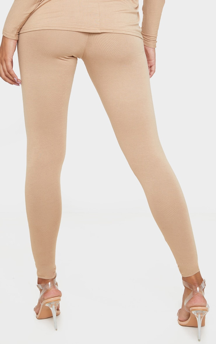 Camel Jersey High Waisted Leggings 4