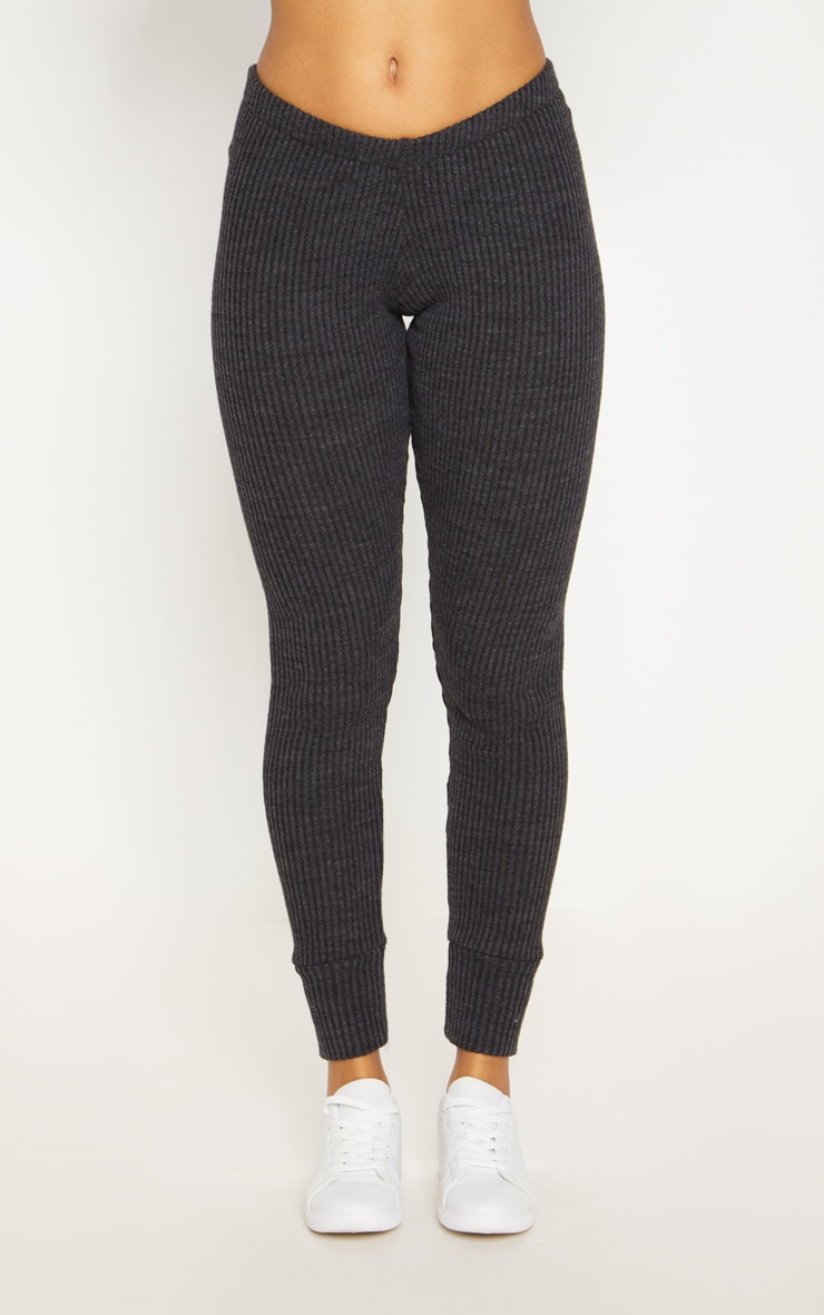 Charcoal Knitted Rib Jogger Co Ord 6