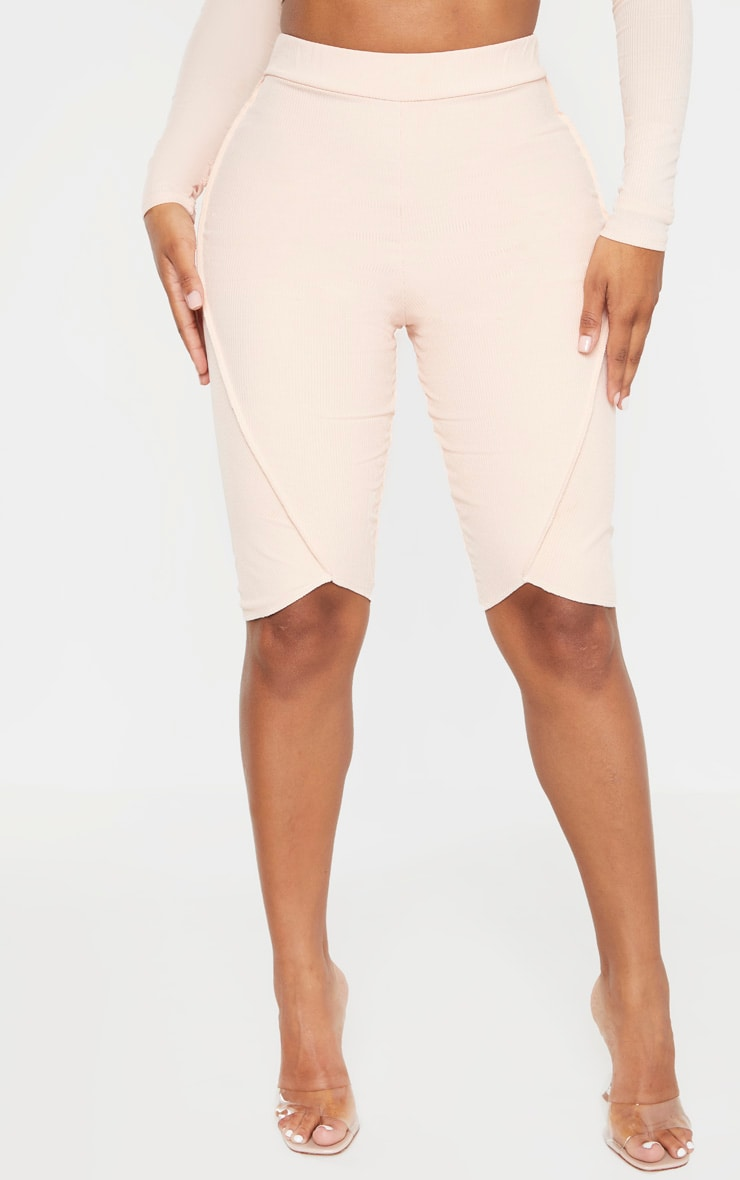 Shape Nude Ribbed Seam Detail Bike Shorts 2