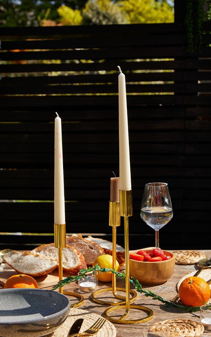 Gold Set Of 3 Candlestick Holder 1