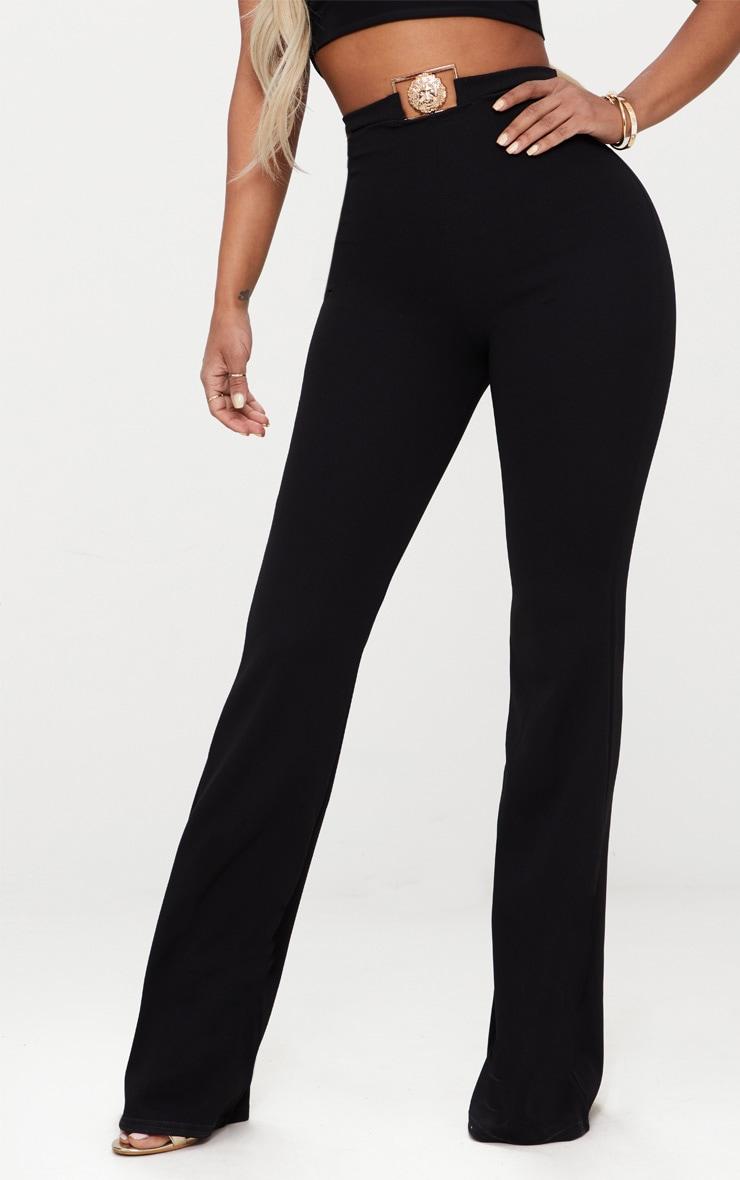 Shape Black Lion Trim Wide Leg Trousers 2