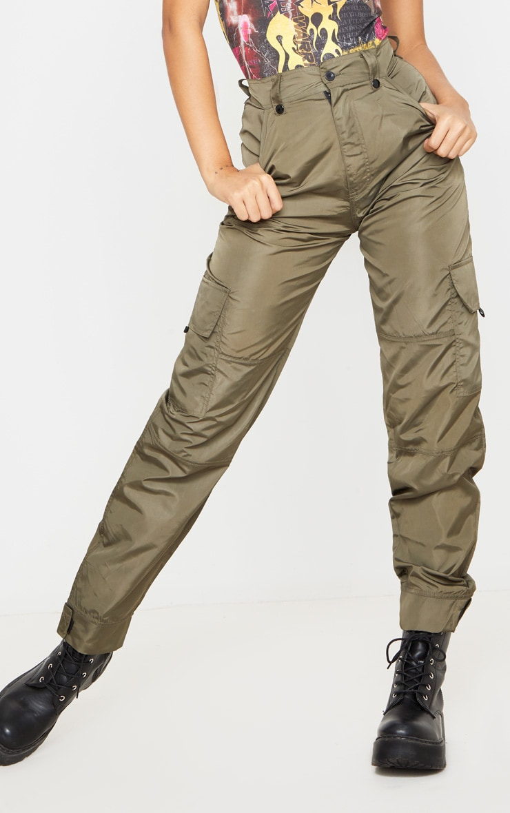 Khaki Shell Straight Cargo Pocket Jogger 2