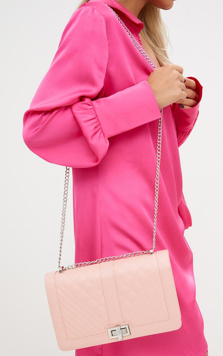 Nude Quilted Shoulder Bag 1